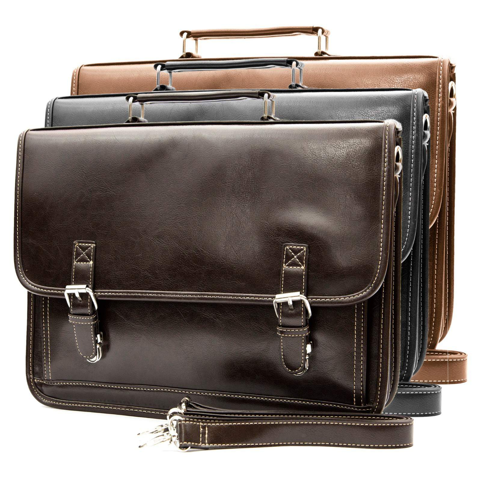 NEW Classic Vintage Men s Professional Business Briefcase Messenger Bag  Leather on Luulla c9109f187a8a0