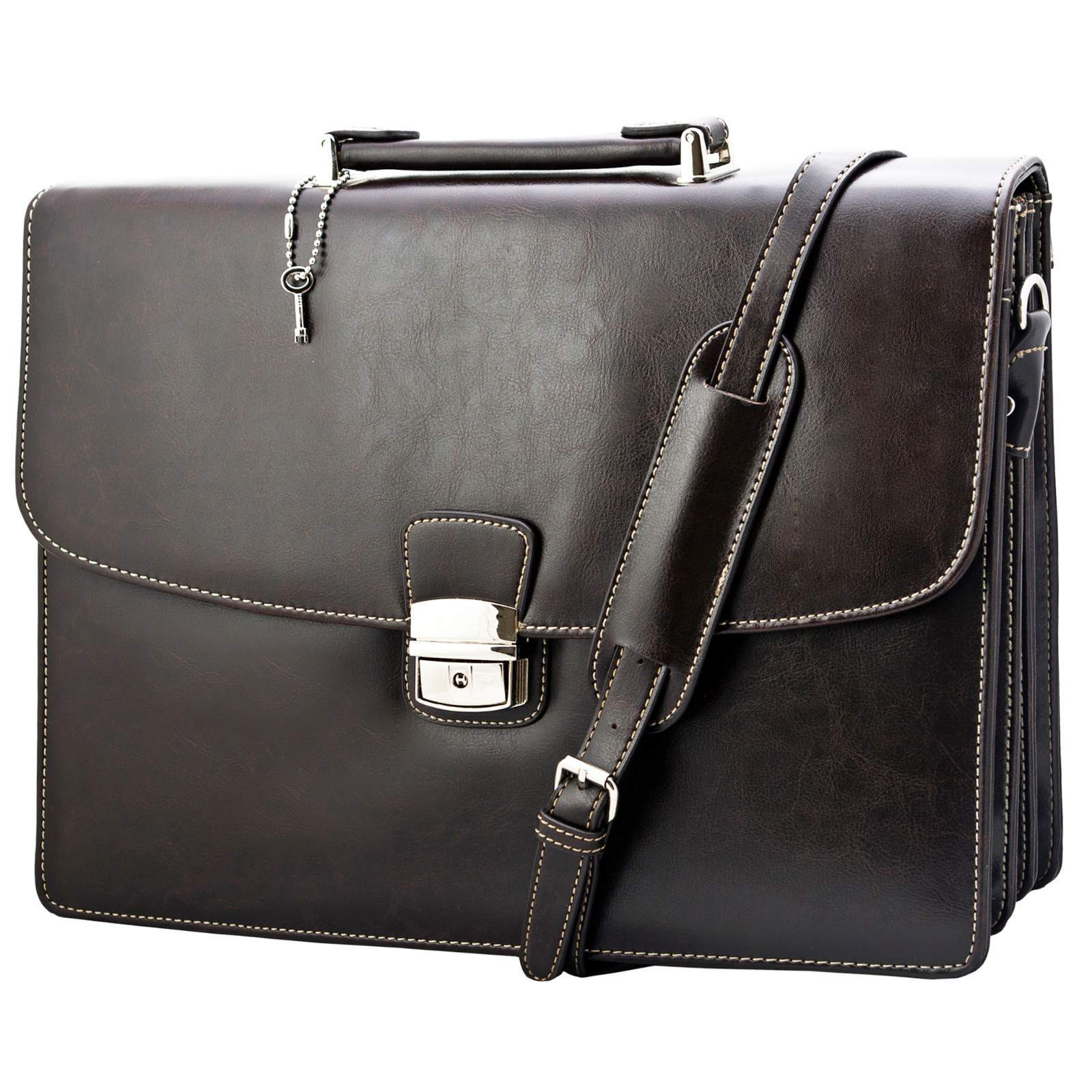 Classic Vintage Professional Men s Leather Carrying Briefcase Messenger Bag  NEW on Luulla 022d0e74ed717
